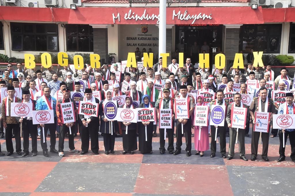 Bupati Bogor Hadiri Deklarasi Anti Hoax