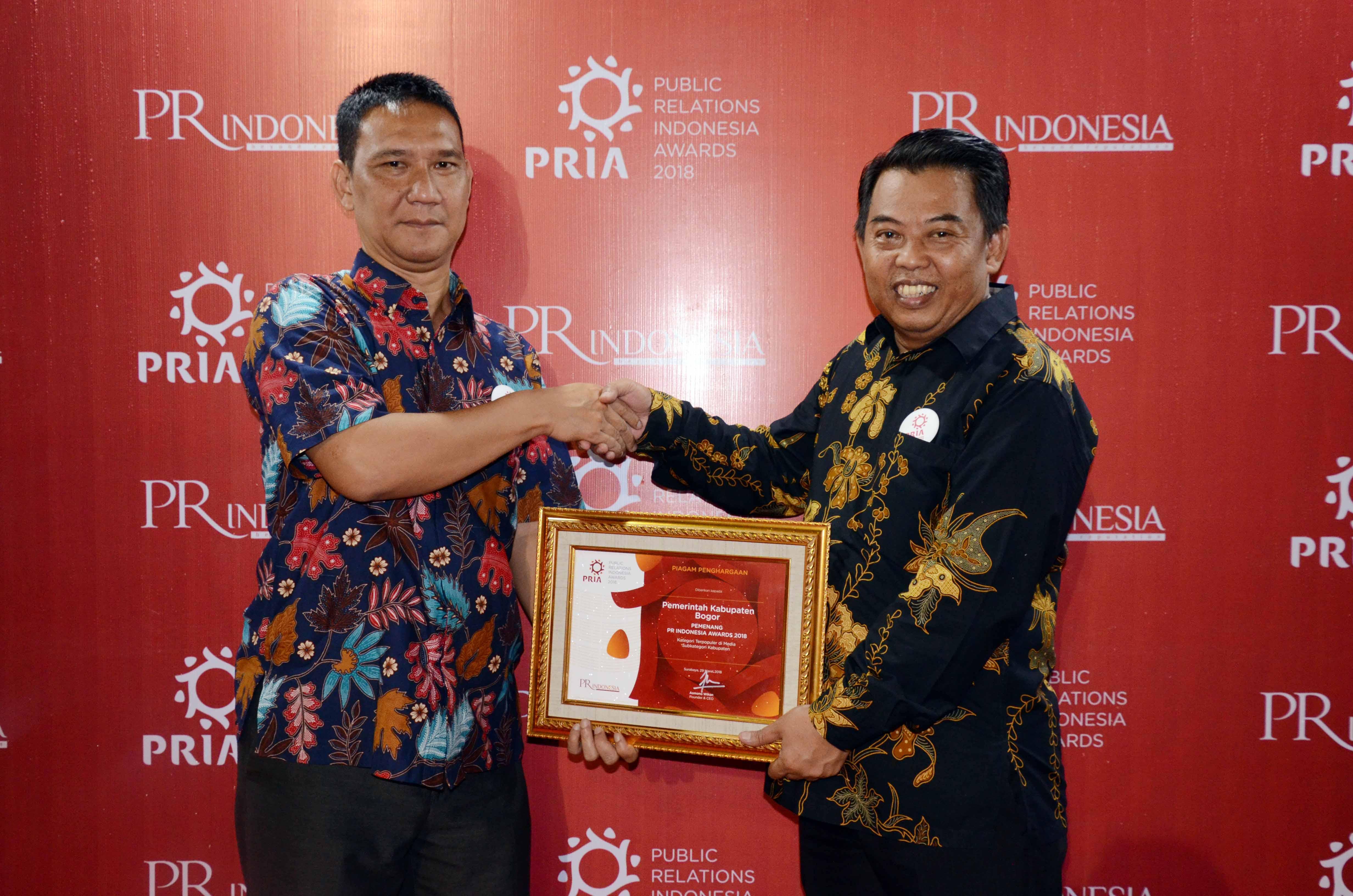 Kabupaten Bogor Raih Penghargaan PR Indonesia
