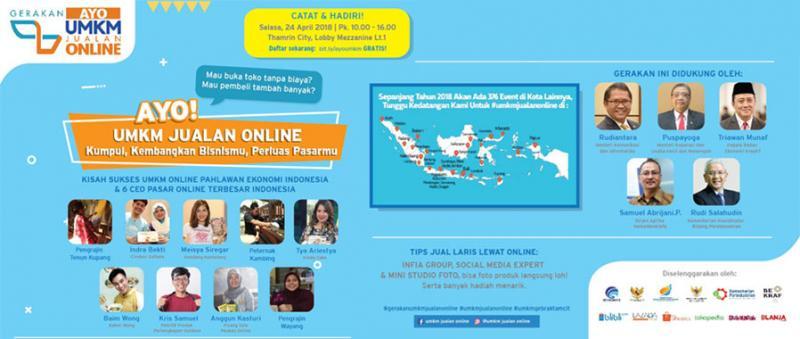 Gerakan Ayo UMKM Jualan Online, Sinergisitas Tingkatkan Daya Saing