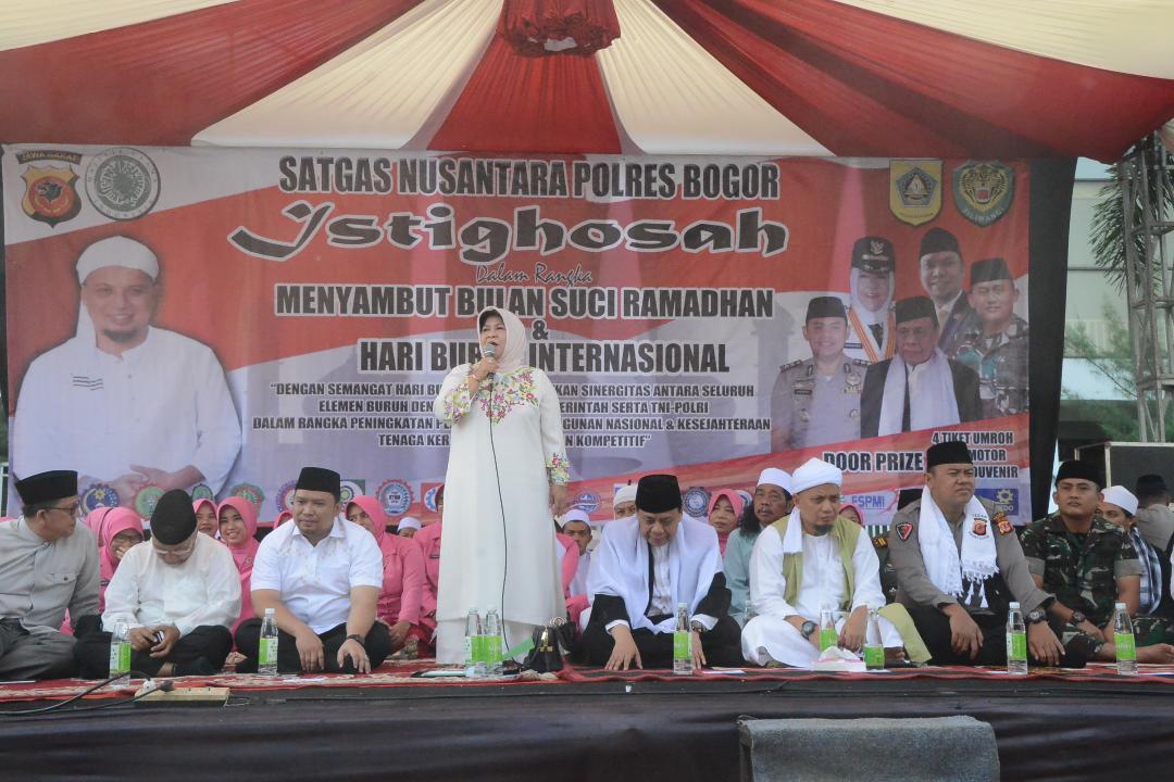 Peringati May Day, Bupati Bogor Istighosah Bersama Ribuan Buruh