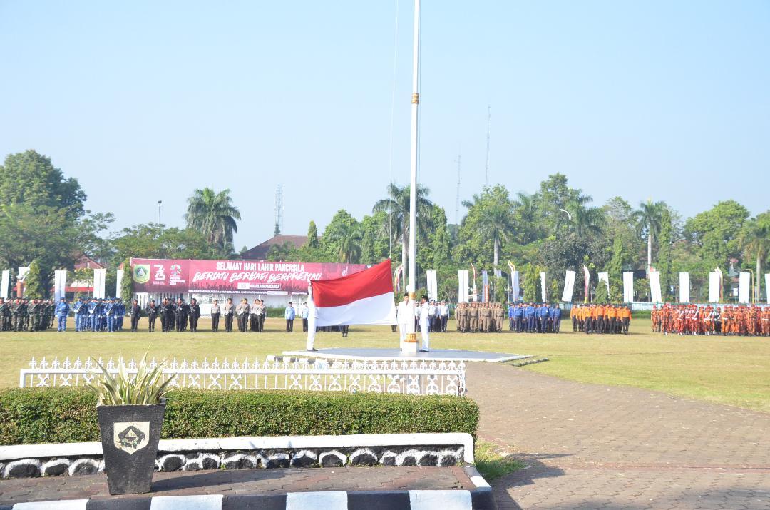 Nurhayanti Pimpin Upacara Hari Lahir Pancasila Tingkat Kabupaten Bogor