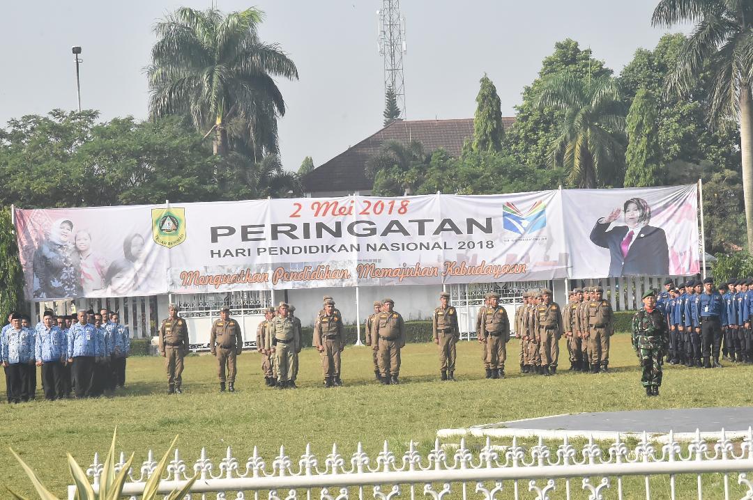 Bupati Bogor Pimpin Upacara Hardiknas Tingkat Kabupaten Bogor