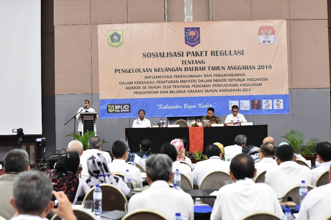 Bupati Bogor Buka Sosialisasi Paket Regulasi Tentang Pengelolaan Keuangan Daerah