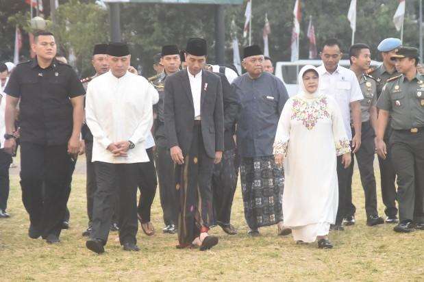 Bupati Bogor Dampingi Presiden Republik Indonesia Sholat Idul Adha Di Cibinong