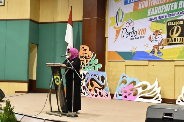 Kontingen Kabupaten Bogor untuk Porda XIII Jawa Barat Resmi Dikukuhkan