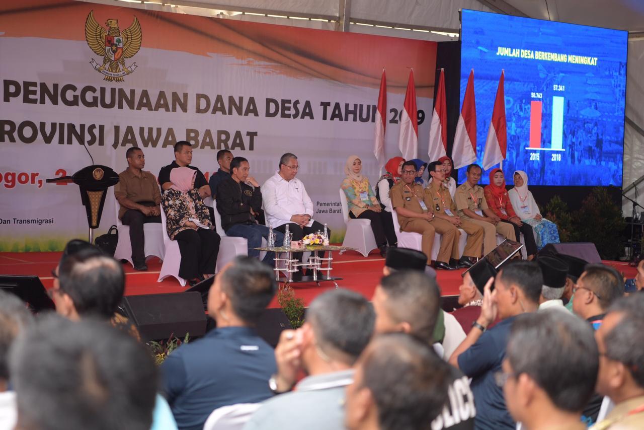 Jokowi Sosialisasi Dana Desa 2019 di Kabupaten Bogor