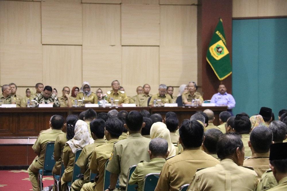 Bupati Bogor Gelar Rakor dengan Seluruh SKPD, Kepala Desa dan Lurah  se- Kabupaten Bogor