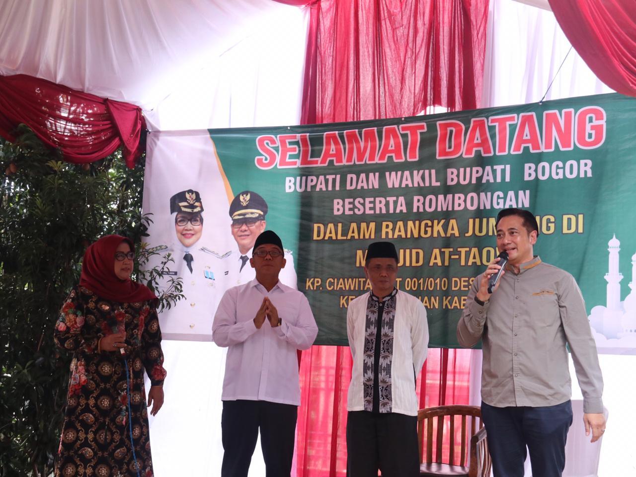 Ade Yasin Janji Memakmurkan Masjid-masjid di Kabupaten Bogor
