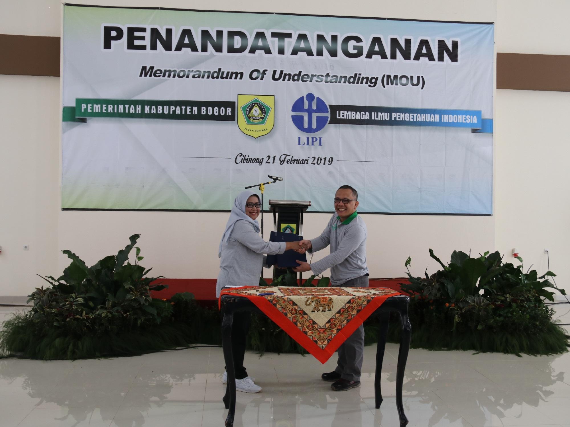 Pemkab Bogor Bekerjasama Dengan LIPI Untuk Pemanfaatan  Kawasan Cibinong Science Center Botanical Garden