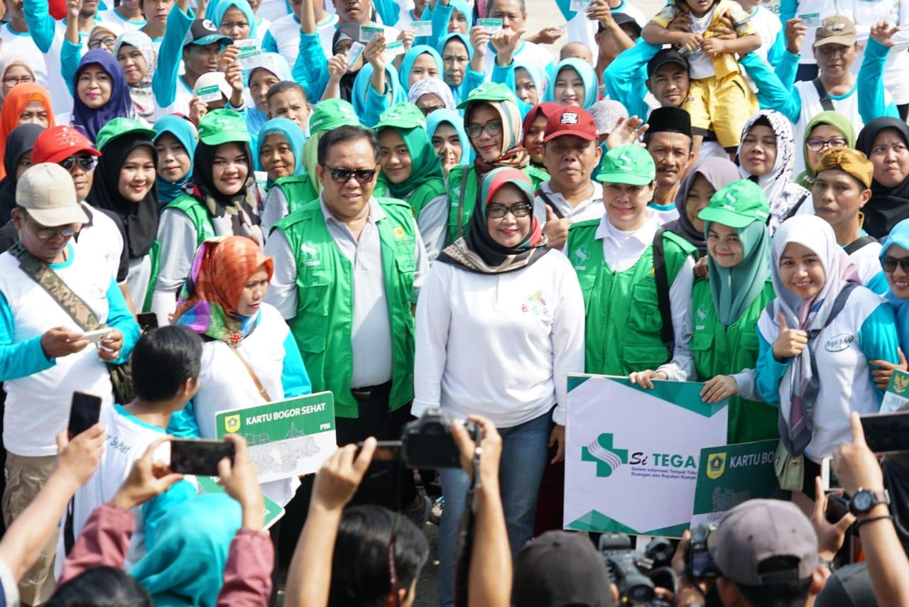 Wujudkan Masyarakat Sehat, Bupati Bogor Launching SiTegar dan Kartu Bogor Sehat
