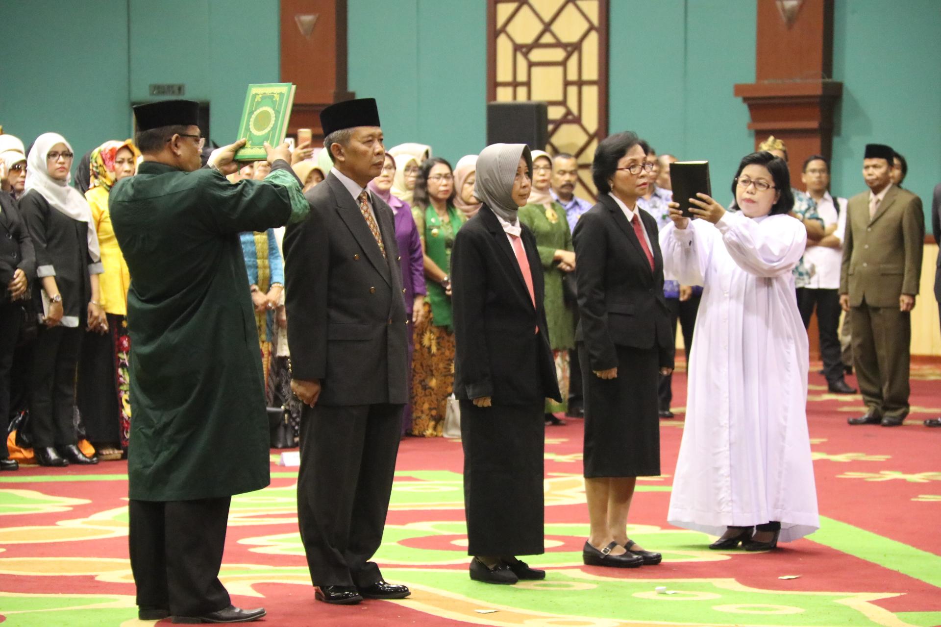 Bupati Bogor Lantik Sekda dan Dokter Ahli Utama RSUD Ciawi