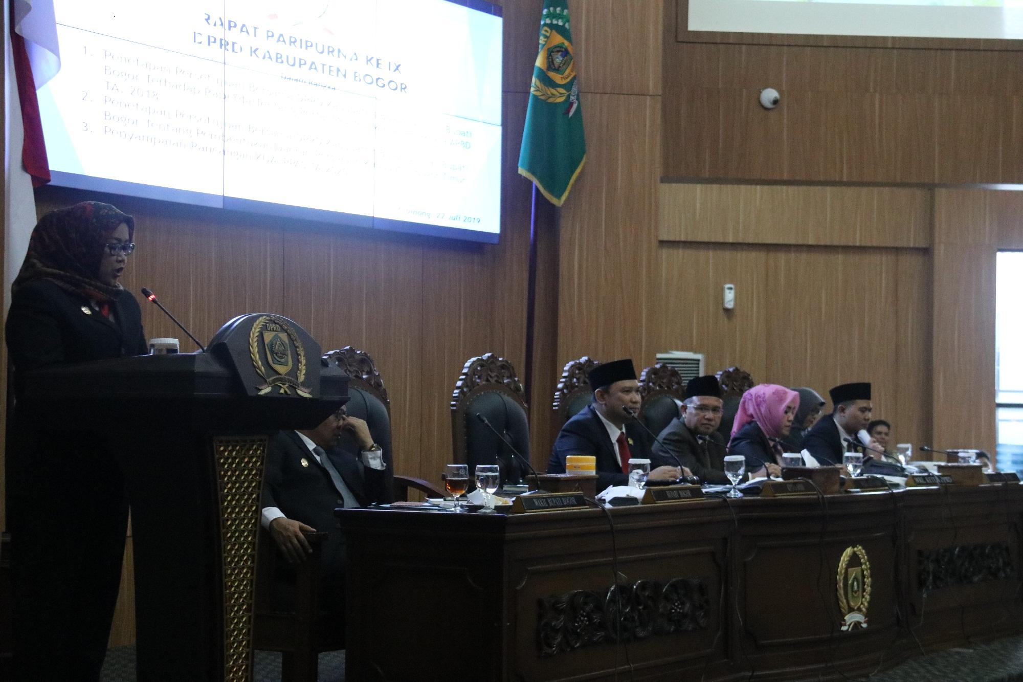 Empat Kali WTP, Kinerja Pemkab Bogor  Diapresiasi Semua Fraksi DPRD