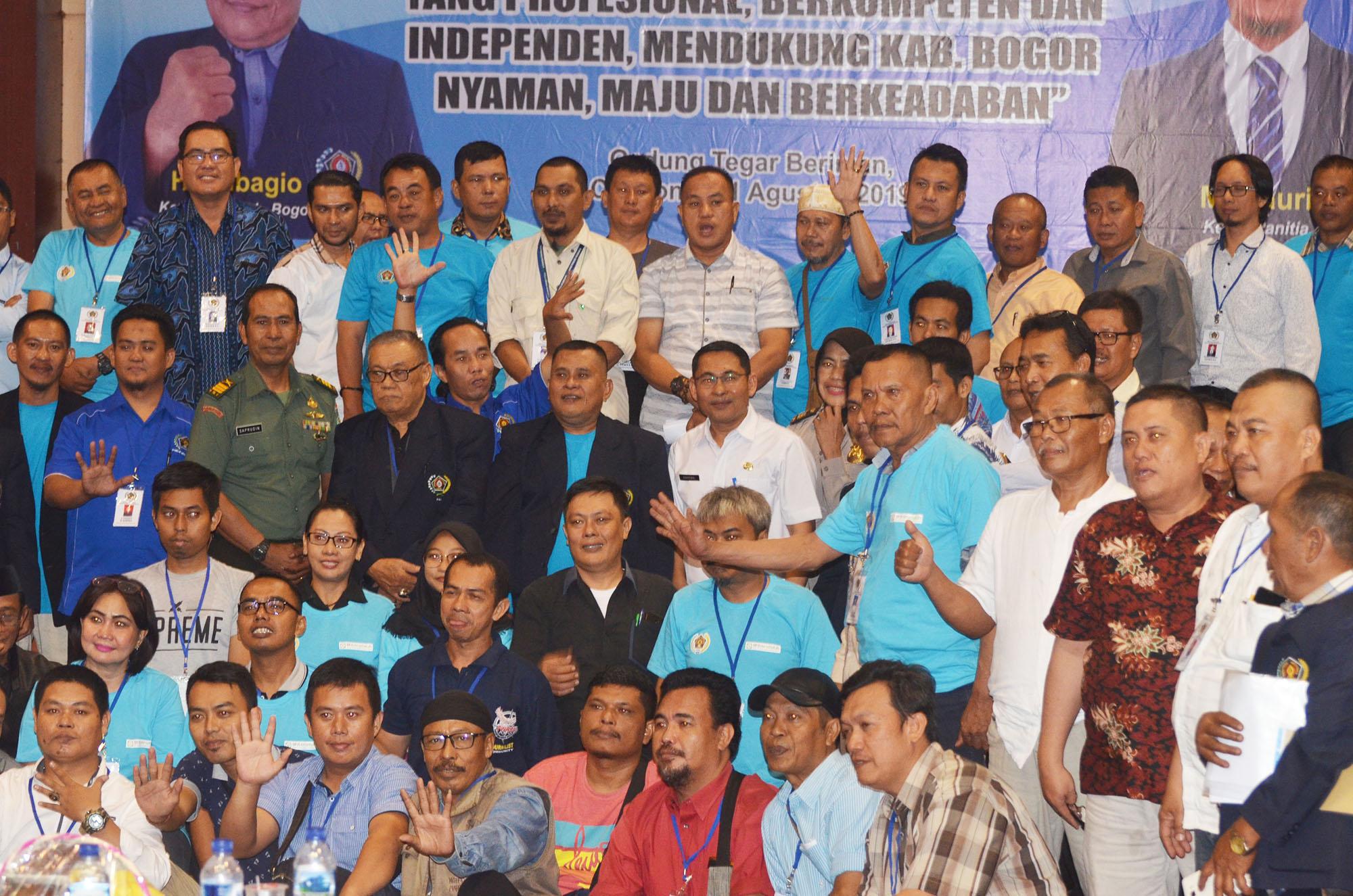 Plt KADISKOMINFO Mewakili Bupati Bogor Membuka Acara Orientasi Organisasi Persatuan Wartawan Indonesia  (PWI) Kabupaten Bogor