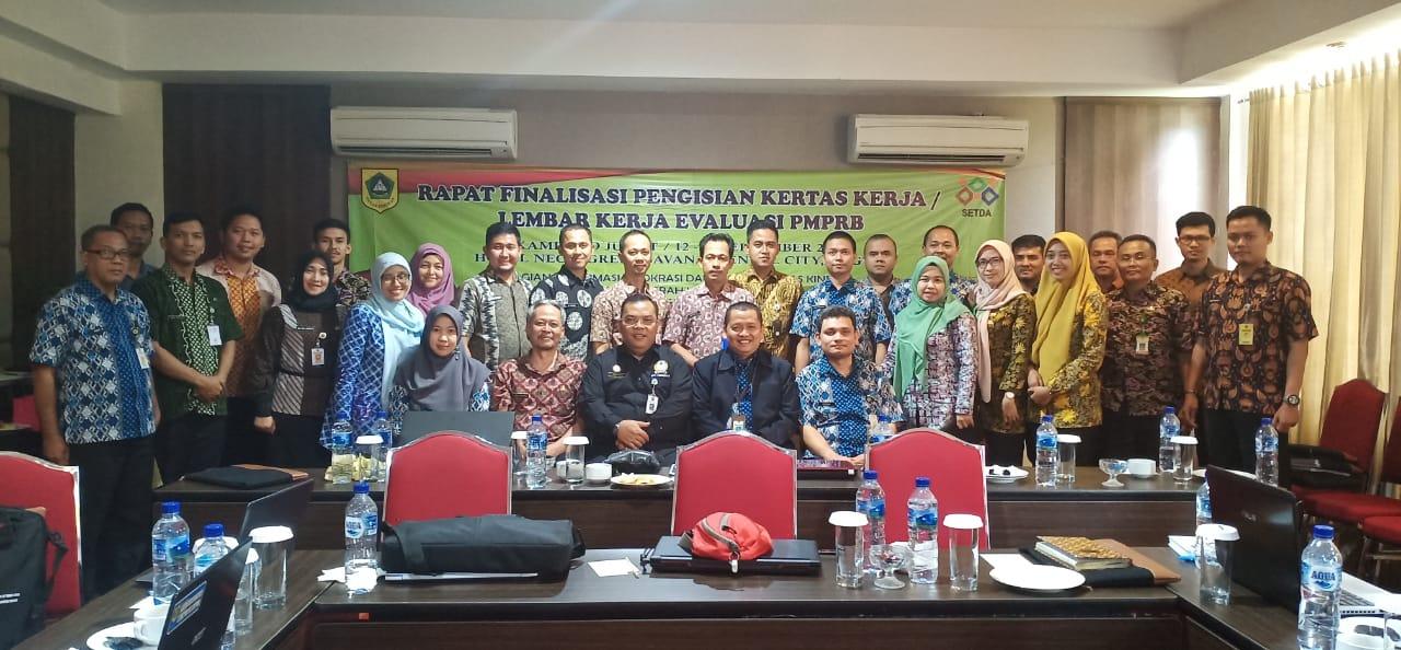 Rapat Finalisasi Pengisian Kertas Kerja atau Lembar Kerja Evaluasi PMPRB