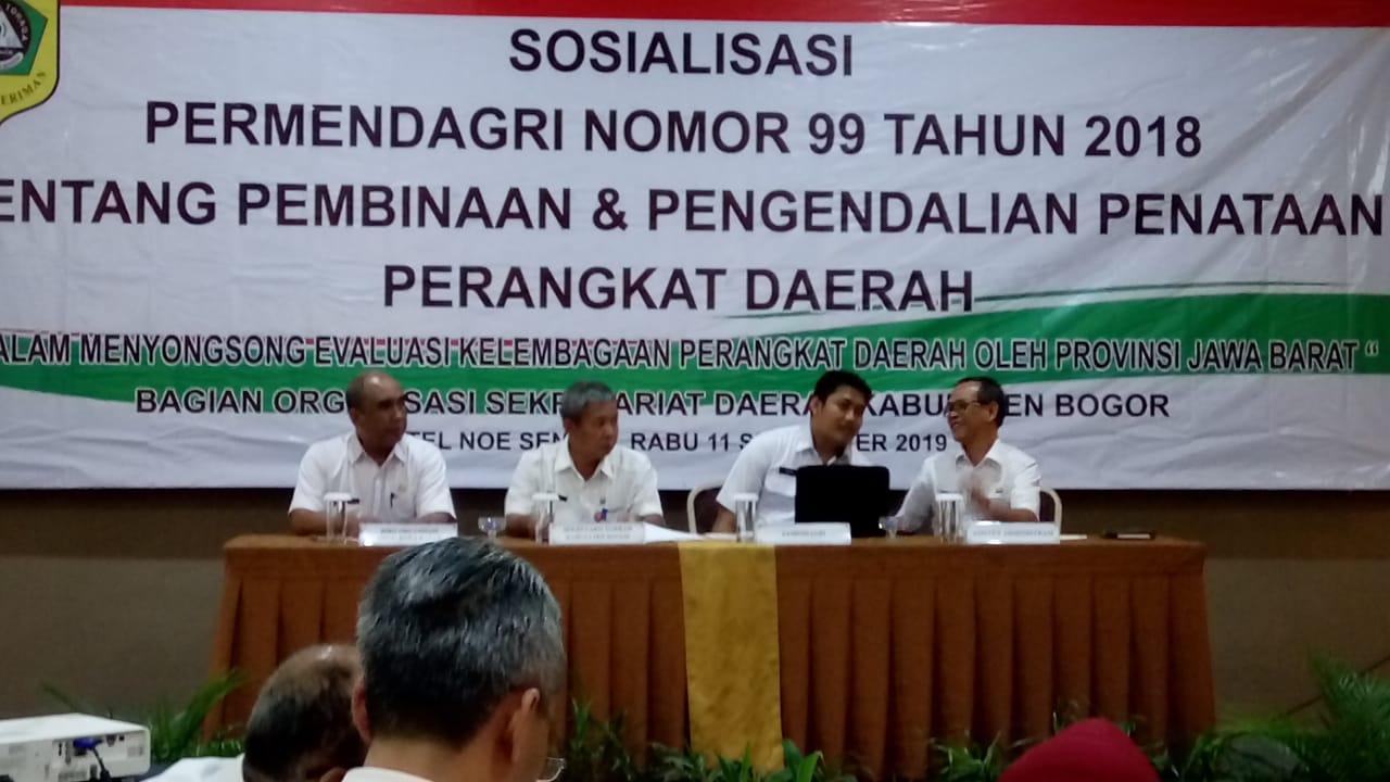 Sosialisasi Peraturan Menteri Dalam Negeri No 99 tahun 2018