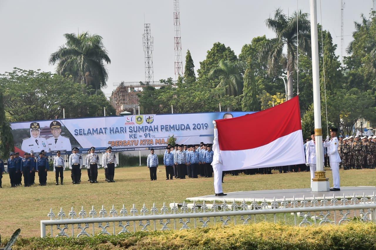 Bupati Bogor, Pimpin Upacara Peringatan Hari Sumpah Pemuda Tingkat Kabupaten Bogor