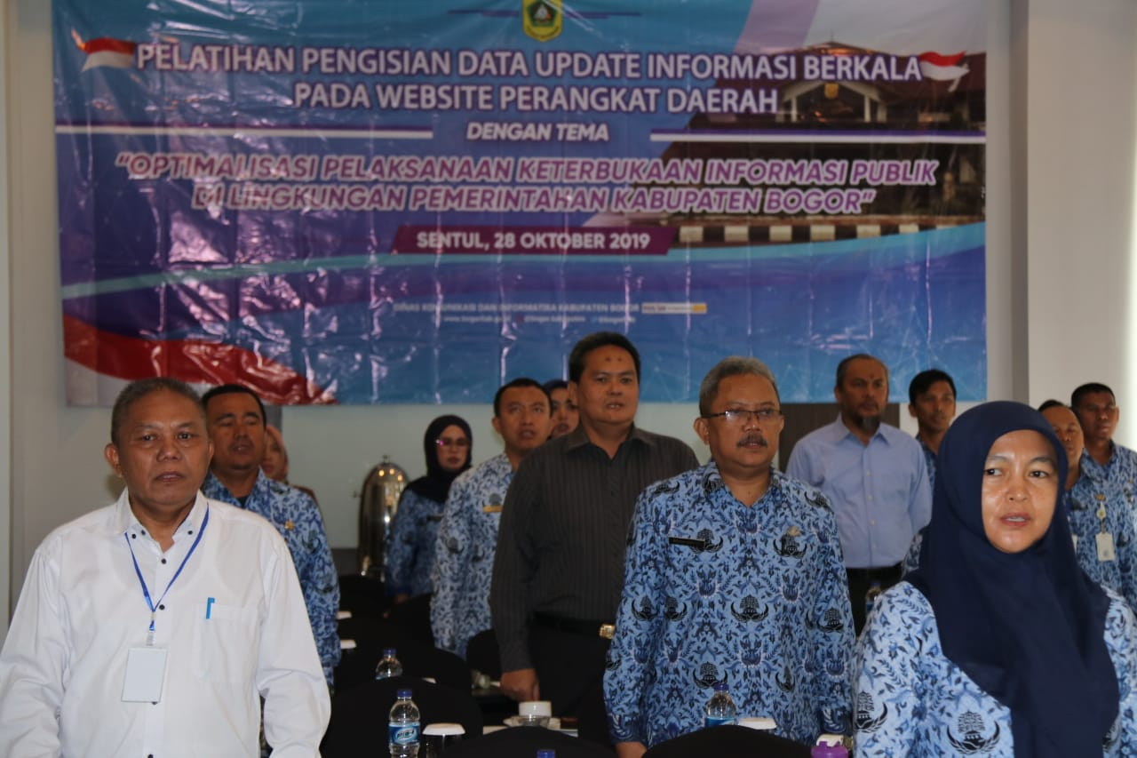 Penuhi Kebutuhan Informasi Masyarakat Diskominfo Kab.Bogor Ajak Sekdis Se-Kabupaten Bogor Aktif Updating Informasi