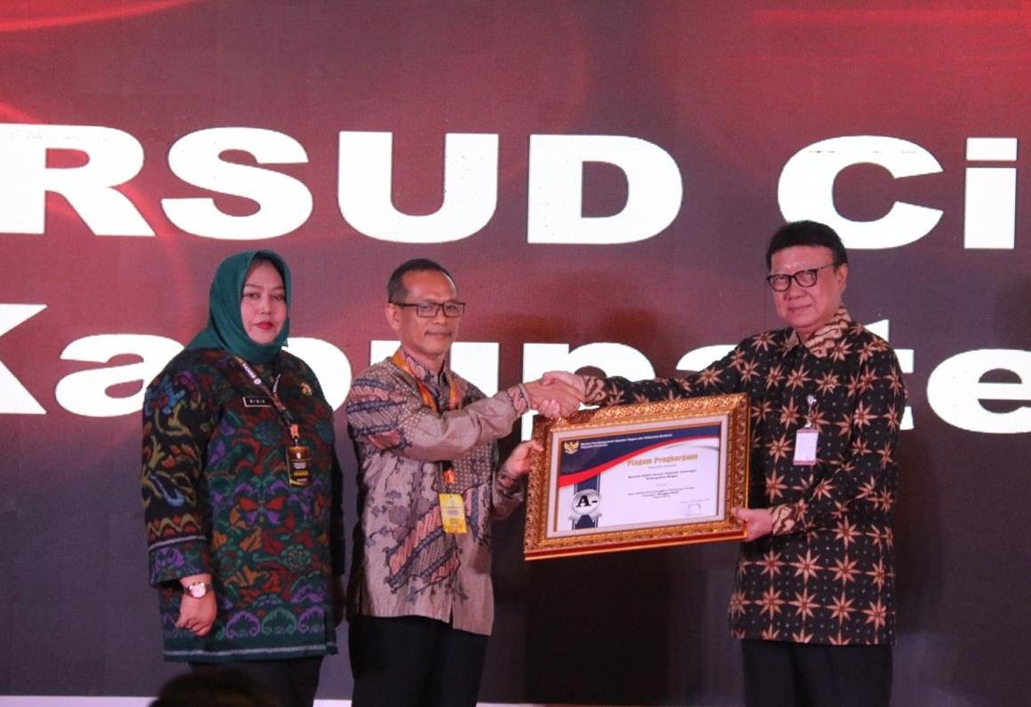 Lewat RSUD Cileungsi, Pemerintah Kabupaten Bogor Kembali Diganjar Penghargaan