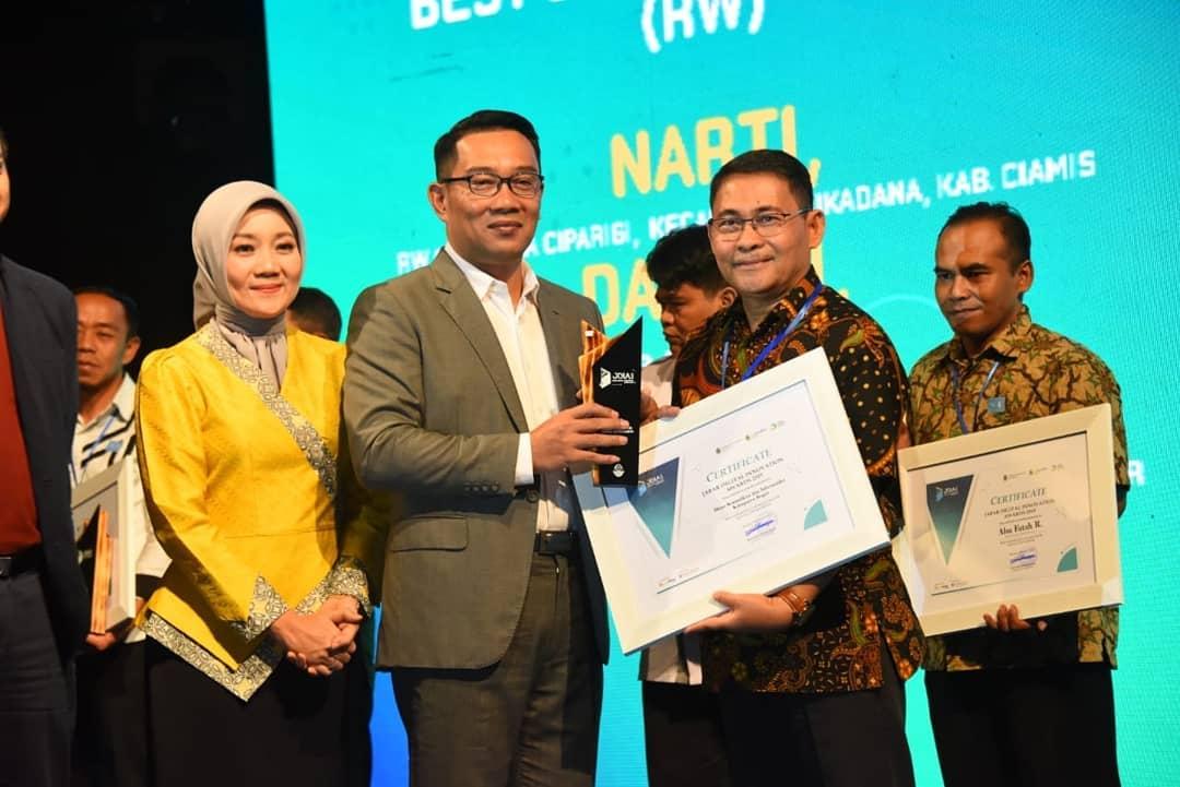 Pemprov Jabar Anugerahi Diskominfo Kabupaten Bogor Sebagai Best Sapawarga Administrator (Local Government) Tahun 2019