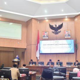 Rapat Paripurna DPRD Kabupaten Bogor Bahas Pembentukan Daerah Persiapan Kabupaten bogor Barat