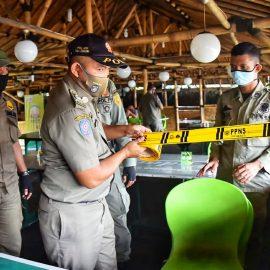 Satpol PP Tindak Tegas Rumah Makan dan Objek Wisata Yang Buka Dimasa PSBB