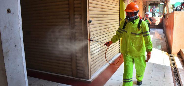 Gugus Tugas Penanganan Covid-19 Kabupaten Bogor Lakukan Sterilisasi, Penyemprotan Disinfektan dan Tes Massal di Pasar Cileungsi