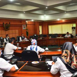 Wabup Pimpin Rapat Pembentukan Tim Terpadu Protokol Kesehatan di Pusat Keramaian
