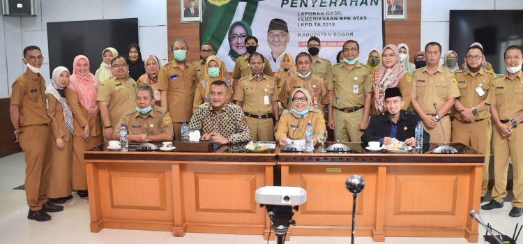 Ditengah Pandemi Covid-19 Pemkab Bogor Raih WTP Laporan Keuangan Daerah Tahun 2019 dari BPK-RI