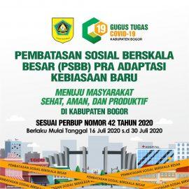Kabupaten Bogor Terapkan PSBB Pra Adaptasi Kebiasaan Baru (AKB)