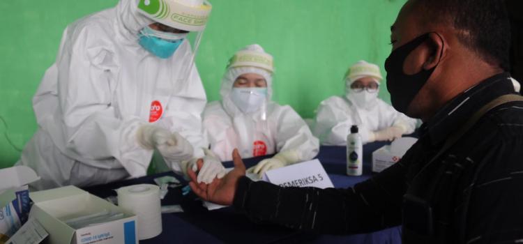 Gugus Tugas Covid-19 Kabupaten Bogor Kembali Gelar Rapid Test, Kali Ini Pasar Leuwiliang yang Mendapat Giliran