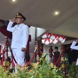 Wabup Bogor Pimpin Upacara Penurunan Bendera HUT RI ke 75