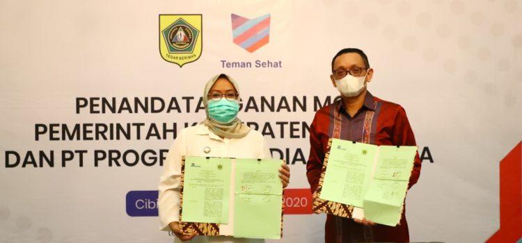 Pemkab Bogor Jalin Kerjasama dengan PT. Progressiv Media Indonesia melalui Sistem Aplikasi Teman Sehat