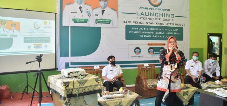 Pemkab Bogor Launching 240 Titik Zona Pancakarsa Free Wifi