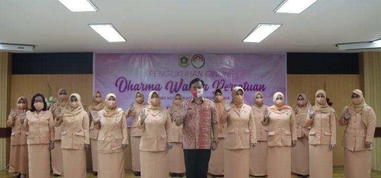 DWP Diskominfo Kabupaten Bogor Periode 2019-2024 Ikuti Pengukuhan Secara Virtual