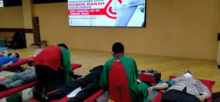 Peringati HUT Korpri ke-49 Diskominfo Kabupaten Bogor Gelar Aksi Donor Darah