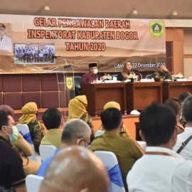 Bupati Bogor Berikan Nilai SAKIP Perangkat Daerah Dalam Gelar Pengawasan Daerah