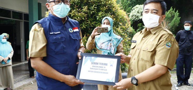 Wabup Bogor Terima Langsung 25.600 Dosis Vaksin Covid-19 dari Pemerintah Pusat