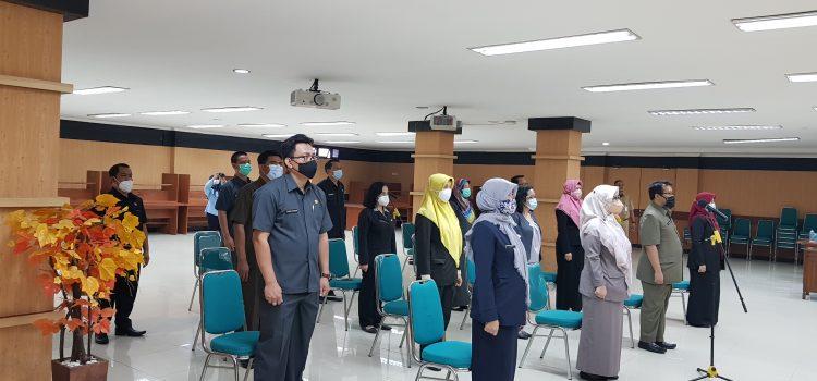 SOTK Baru Pejabat Struktural Lingkup Diskominfo Kabupaten Bogor Ikuti Pelantikan Secara Virtual